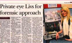 surrey advertiser private eye liv's for forensic approach private investigators