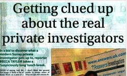 surrey advertiser getting clued up about private investigators